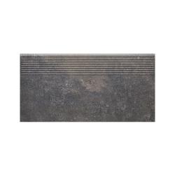 Paradyz Viano Antracite ступень прямая рифленая 30×60