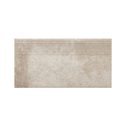 Paradyz Viano Beige ступень прямая рифленая 30×60