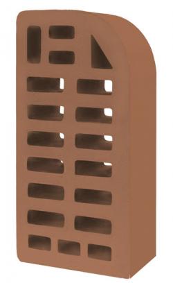 Кирпич фасонный ФЛ-12 лицевой коричневый 'Терракотовый'