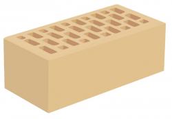 Кирпич утолщенный лицевой желтый 'Слоновая кость' с гладкой поверхностью