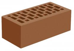 Кирпич утолщенный лицевой коричневый 'Терракотовый' с гладкой поверхностью