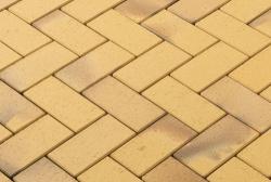 Клинкерная брусчатка Vandersanden Plauen (пестрая, желтая, рельефная)