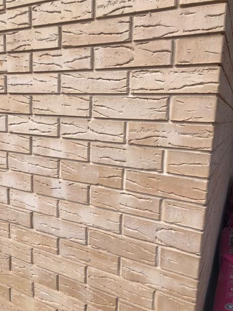 Кирпич лицевой бежевый 'Толедо S' с поверхностью Винтаж